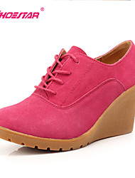 Women's Shoes Wedge Heel Wedges/Fashion Boots/Bootie Heels/Boots/Oxfords Dress/Casual Black/Yellow/Red