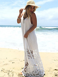 Women's Sexy / Beach Patchwork Loose Dress , Strap Maxi Others