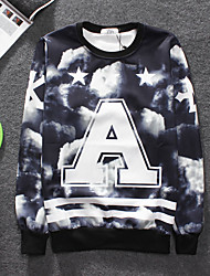 "Women's High Quality Creative Print Pattern Stereo Unique Fashion Personality 3D Sweatshirts / Sweater —— The Letter ""A"""