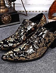 Для мужчин обувь Кожа Весна Лето Осень Зима Оригинальная обувь Туфли на шнуровке Шнуровка Назначение Свадьба Для вечеринки / ужина Золотой