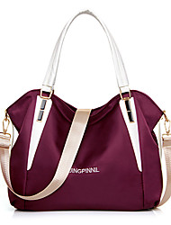Women PU Barrel Shoulder Bag / Tote - Purple / Blue / Red / Black / Burgundy