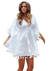 Women's  Cute V Neck ¾ Sleeve Dress
