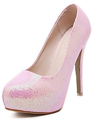 Women's Shoes Glitter Stiletto Heel Platform Comfort Round Toe Pumps Wedding and Party More Colors available