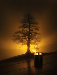 création artistique des formes multiples bougie imitant conduit ombre lampe de projection de lumière lumière de nuit cadeau de Noël