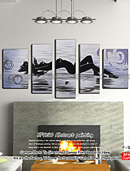 BPAGO ® Modern Love Sleepless 5 Pieces Hand-Painted Canvas Oil Painting