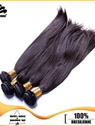 4pcs não transformados cabelo virgem brasileira máquina madeixas de cabelo humano em linha reta cabelo reto de seda de trama 8-30