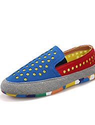 Men's Spring / Summer / Fall / Winter Comfort Tulle Casual Flat Heel Slip-on Blue / Red / Gray