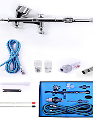 Dual Action Airbrush Comperssor Kit 0.3mm Needle Air Brush Spray Gun Body Paint Kit Art Temporary Tattoo Set