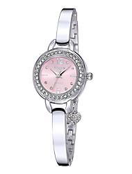 yaqin® relojes de cuarzo rhinestone esfera redonda correas de plata de las mujeres