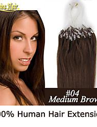 extension de cheveux bague micro Liens remy droite extensions de cheveux humains 100g brésilienne de cheveux de boucle de cheveux en stock