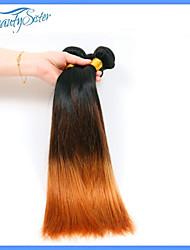 3bunldes 7a peruano pelo ombre virginal teje peruana del pelo humano de dos cabellos tres tonos recta omber pelo