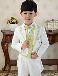 Polester/Cotton Blend / Uniform Cloth Ring Bearer Suit - 5 Pieces Includes  Jacket / Shirt / Vest / Pants / Bow Tie