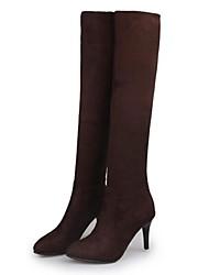 Women's Shoes Fur Winter Combat Boots Outdoor / Casual Stiletto Heel Black / Brown