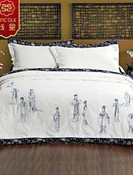 2015 Hot Winter Silk Blanket Comforter Quilt New Arrive Chinese Embroidery White Silk  Four Seasons Bedding Sets