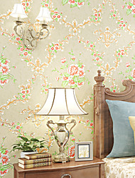 Contemporary Wallpaper Art Deco 3D Romantic Flowers Wallpaper Wall Covering Non-woven Fabric Wall Art