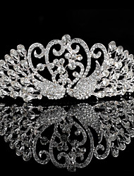 Korean  Brides Double Diamond Crown By The Peacock  The New High-End Wedding Jewelry