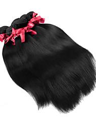 malaisie vierges trames de cheveux droites non transformés tissage de cheveux humains soyeux 1pcs 100g / pcs vierges faisceaux de tissage