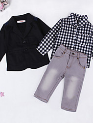 Boy's Clothing Set Spring / Fall box Shirt  Small Suit  Jeans  Pants  Three-Piece Suit