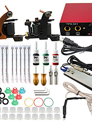 ITATOO® Tattoo 2 Pro Machine Guns Tattoo Kit 3 Tattoo Inks Power Supply Needle Grips
