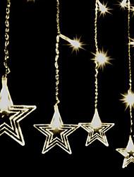 Article grande cinq branches rideau de glace étoiles fil de cuivre décorative série de lampe étanche 2 * 0,6 m pvc 60Led 3w 220v