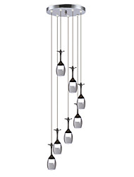 UMEI™ Modern Pendant Lights LED 7 Lights Led Integrated Bulbs Included Stair Light  Living Room/Office
