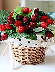Seda / Plástico Fruta Flores Artificiales