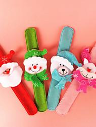 Christmas Decor Santa Suits Clap Ring Bracelet For Christmas Party (Random Color)
