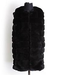 Women Faux Fur Top , Belt Not Included Fur Coat Winter Plus Size Overcoat