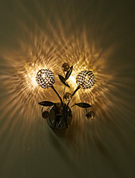 Wall Sconces Crystal / LED / Mini Style / Bulb Included Modern/Contemporary Metal
