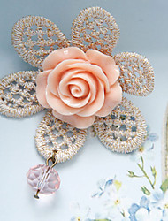 Retro Fashion Cute Lace Flower Sweater Brooch