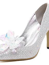 Scarpe Donna - Scarpe col tacco - Matrimonio / Formale - Tacchi / A punta - A stiletto - Sintetico - Argento
