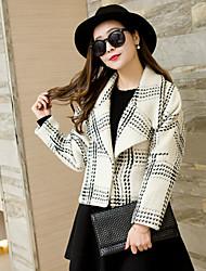 Women's Plaid Striped Jacket Coat
