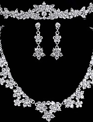 Wedding Jewelry DiamondThree-Piece Suit Crown Bridal Jewelry Set