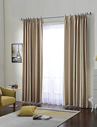 (Two Panels)Modern Geographic Jacquard  Cotton Polyester Blend Curtain(Sheer Not Included)