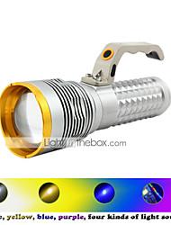 Lanternas LED LED 3 Modo 2800 Lumens Prova-de-Água / Recarregável / Resistente ao Impacto / Bisel de Golpe / Tático / EmergênciaCree XP-E