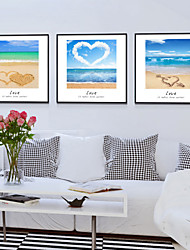 Canvas Print with Frame for Ocean Style--Sea breeze 3pcs/set