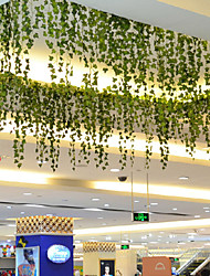 Rama Poliéster Plantas Flor de Pared Flores Artificiales 200*6*6
