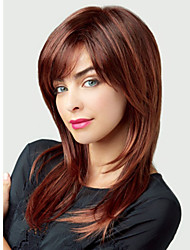 Capless Extra Long Straight Synthetic Wig Side Bang