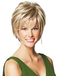 Short Layered Hand Tied Top Human Virgin Remy Female Capless Wig