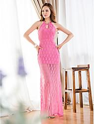 Women's Sexy Lace Bodycon Dress , Halter Maxi Cotton
