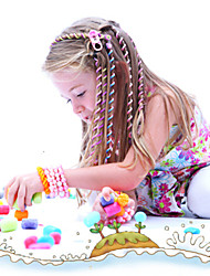 Kid's one piece Colorful Decorated Curly Hair(Random Color)