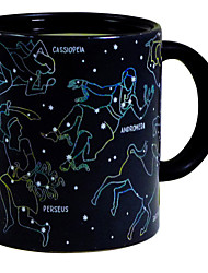 1Piece 10oz Heat Changing Night Star Constellation Mug Ceramic Coffee Cup