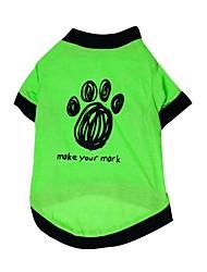Коты / Собаки Футболка Зеленый Одежда для собак Лето / Весна/осень Цветочные / ботанический Мода
