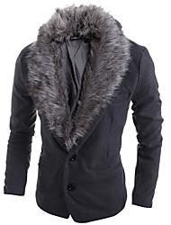 Men's Pan Collar Coats & Jackets , Tweed Long Sleeve Casual Fashion Winter Wshgyy