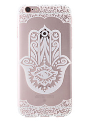 Pour Coque iPhone 7 Coques iPhone 7 Plus Coque iPhone 6 Coques iPhone 6 Plus Transparente Motif Coque Coque Arrière Coque Fleur Flexible