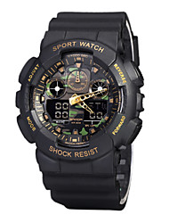 50 m Waterproof, Camouflage Dial, Dual Mode Of Military Electronic Watch Cool Watch Unique Watch