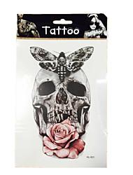 5/PCS new Skull waterproof temporary arm tattoos sexy body art removable tattoos WST-48