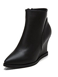 Women's Shoes Leather Wedge Heel Wedges / Snow Boots / Riding Boots / Combat Boots Boots Outdoor/Martin Boots