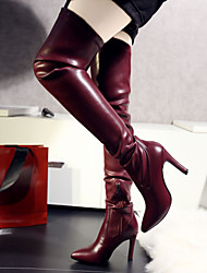 Europe leather knee boots boots