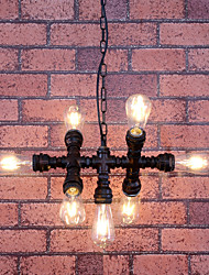 MAX:60W Vintage Bulb Included Painting Metal Chandeliers Living Room / Bedroom / Dining Room / Entry / Hallway